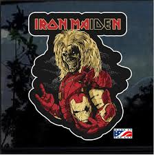 Iron Maiden Iron Man Full Color Decal Sticker Custom Sticker Shop