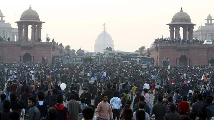 Image result for Protest at vijay chowk""