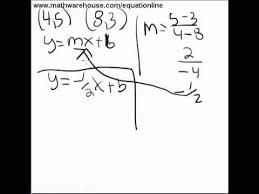 equation of line from 2 points example