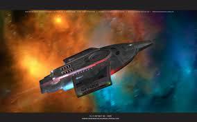 star trek uss defiant nx 74205 at warp