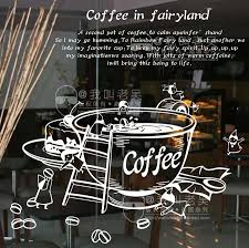 Vinyl Wall Decal Creative Coffee Cup Milk Tea Window Glass Sticker Coffee Shop Decoration Removeable Decorative Decoration Coffee Shop Decoration Shop Decordecorative Decorative Aliexpress