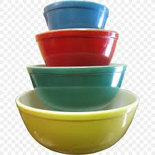 pyrex bowl color glass green png