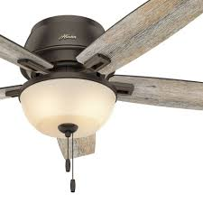 hunter ceiling fan light low profile