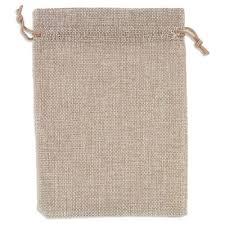 jewelry pouch gift bag 5x7 inch hemp