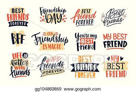 vector stock collection of friends and friendship quotes