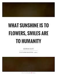 what sunshine is to flowers smiles are to humanity picture quotes