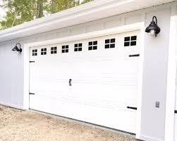 Garage Door Makeover for Less than $100 - The Ginger Home