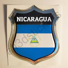 Auto Parts And Vehicles Sticker Nicaragua Emblem 3d Resin Domed Gel Nicaragua Flag Vinyl Decal Car Car Truck Graphics Decals