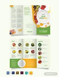 10 healthy food brochures design
