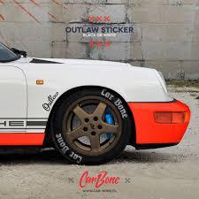 Outlaw Sticker Car Bone Pl