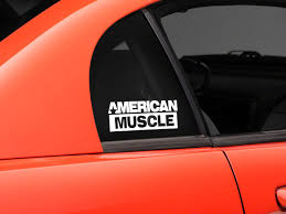 Sec10 Mustang Americanmuscle Quarter Window Decal White 26023g94 94 04 All