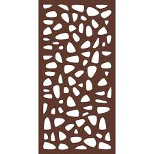 Modinex 6 Ft X 3 Ft Espresso Brown Decorative Composite Fence Panel Featured In The Stonewall Design Usamod3e The Home Depot