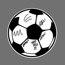 Soccer Ball Car Sticker Decal Etsy