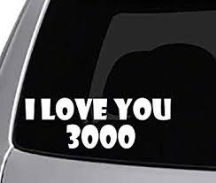 Amazon Com Seek Racing I Love You 3000 Decal Car Truck Window Bumper Sticker Avenger Automotive