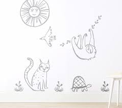 West Elm X Pbk Animal Parade Modern Wall Decal Pottery Barn Kids