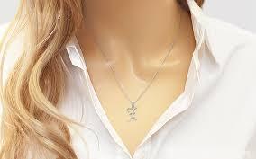 white gold pendant letter z for women