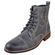 andy mens ankle boots combat lace