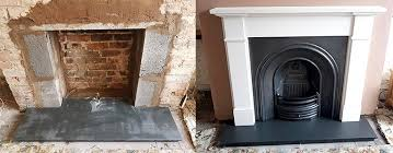 tiles hearth victorian fireplace