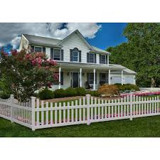 All American Vinyl Picket Fence With No Dig Steel Pipe Anchor Kit Walmart Com Walmart Com