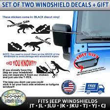 2pc For Jeep Windshield T Rex Jurassic Park Decal Set Left And Right Gift Ebay
