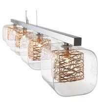 copper bar ceiling pendant