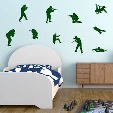 Army Soldiers Wall Stickers Soldier Wall Decals Boys Army Etsy