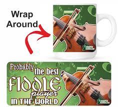 fiddle player mug gift mugs county
