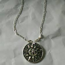 moon necklace sterling silver chain