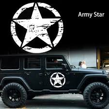 20 Distressed Army Star Sticker Hood Body Cars Truck Off Road Vinyl Decal Ebay