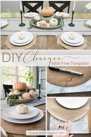 diy project thanksgiving chargers for