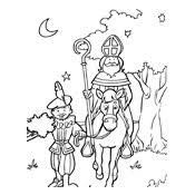 Kleurplaat Sinterklaas En Zwarte Piet 2852