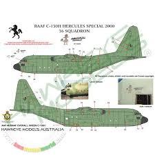 Desk Display Model Aircraft Silk Screen Decal Airfix 1 72 Raaf C130 Hercules Models