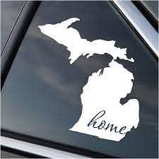 Amazon Com Michigan Is Home Vinyl Decal Automotive