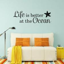 Life Is Better At The Ocean Beach Wall Art Decal Quote Words Lettering Decor Ebay