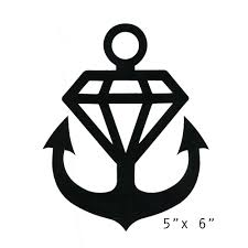 Anchor Black Decal Car Ssc0 Merchnow Your Favorite Band Merch Music And More