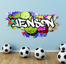 3d Graffiti Decals My Sticky Wall Decal Wall Decals Sticker Etsy