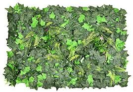 Yunhigh Artificial Ivy Leaf Hedge Faux Green Privacy Fence Screen Fake Greenery Panels Backdrop Wall Decor Plastic Landscaping Garden Fence Trellis Amazon Co Uk Kitchen Home