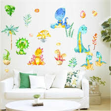 Cartoon Dinosaur Wall Sticker For Kids Room Decorative Stickers Children Bedroom Nursery Wall Decal Baby Boy Room Stickers Mural Aliexpress