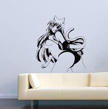 Amazon Com Greate Decal Omamori Himari Anime Wall Decal Cartoon Manga Hentai Sexy Girl Sword Vinyl Stickers Mural Mk2530 Home Kitchen