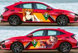 Eva Anime Asuka Neon Genesis Evangelion Car Door Decal Vinyl Sticker Fit Any Car Ebay