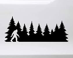 Amazon Com Minglewood Trading Black Bigfoot In Treeline V2 Vinyl Decal Pine Trees Forest Pnw Sasquatch Die Cut Sticker 12 5w X 5h Inches Automotive