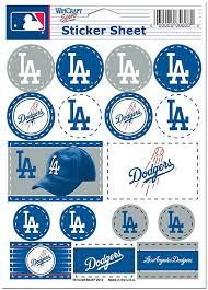 Amazon Com Wincraft Mlb Los Angeles Dodgers Vinyl Sticker Sheet 5 X 7 Sports Fan Sports Stadium Seats And Cushions Sports Outdoors