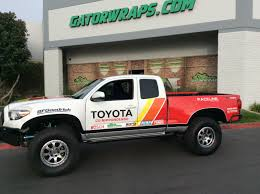 Toyota Tacoma Trd Sport Partial Wrap With Sponsor Logo Decals Gator Wraps