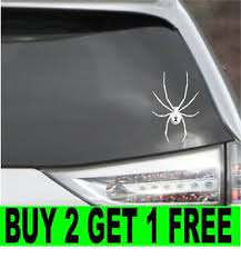 Black Widow Spider Vinyl Decal Car Window Bumper Sticker 4 Size 14 Colors Ebay