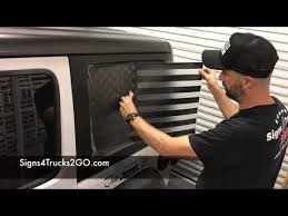 Decal Installation Hardtop Window Flag Decal Jeep Wrangler Jl Us Usa Video N22 Youtube