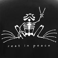 Peace Frogs Rest In Peace Glow Sticker Stickers Peace Frogs
