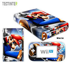 Mario For Wii U Console Vinyl Skin Sticker Cover With 2pcs Controller Decal For Wiiu Controller Gamepad Joypad Mario Sticker Mario Wii Umario Wii Aliexpress