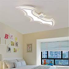 Runnup Modern Dimmable Ceiling Light Fixture Batman Design 37 4 Led Ceiling Lamp In White For Boys Bedroom Kids Room Children Bedroom Amazon Com