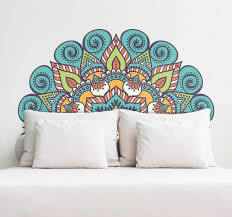 Mandala Headboard Wall Sticker Tenstickers