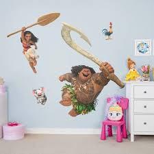Disney Princess Moana Bedroom Disney Moana Collection Wall Decal Disney Wall Decals Wall Graphics Wall Decals